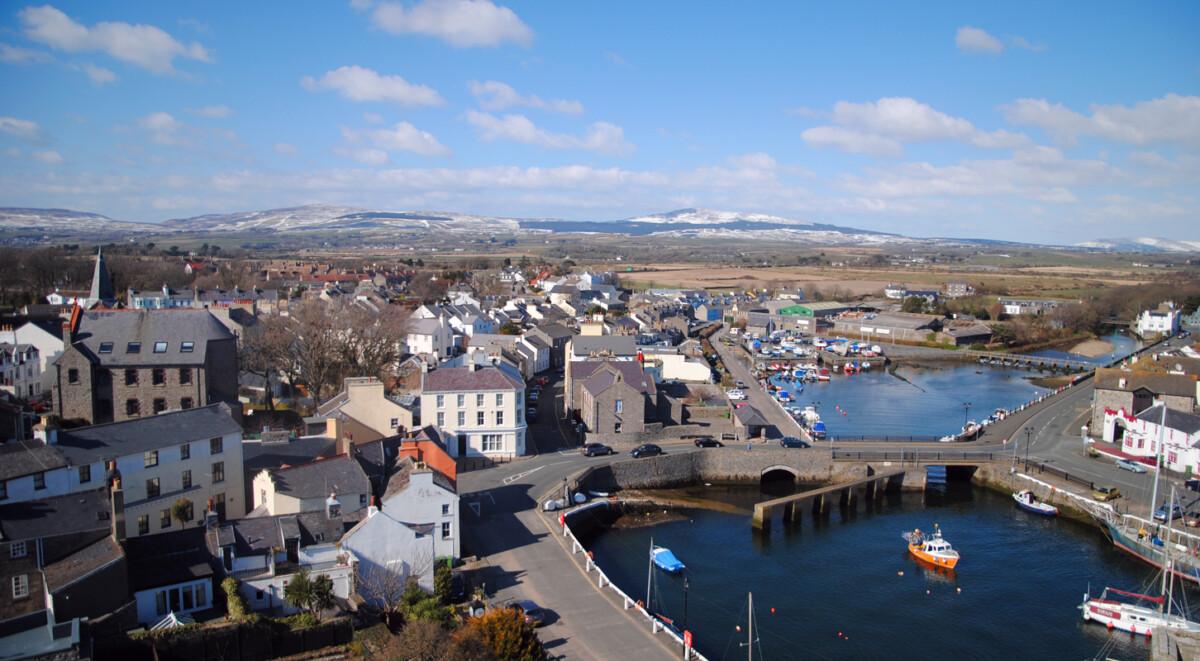 俯瞰Castletown小镇