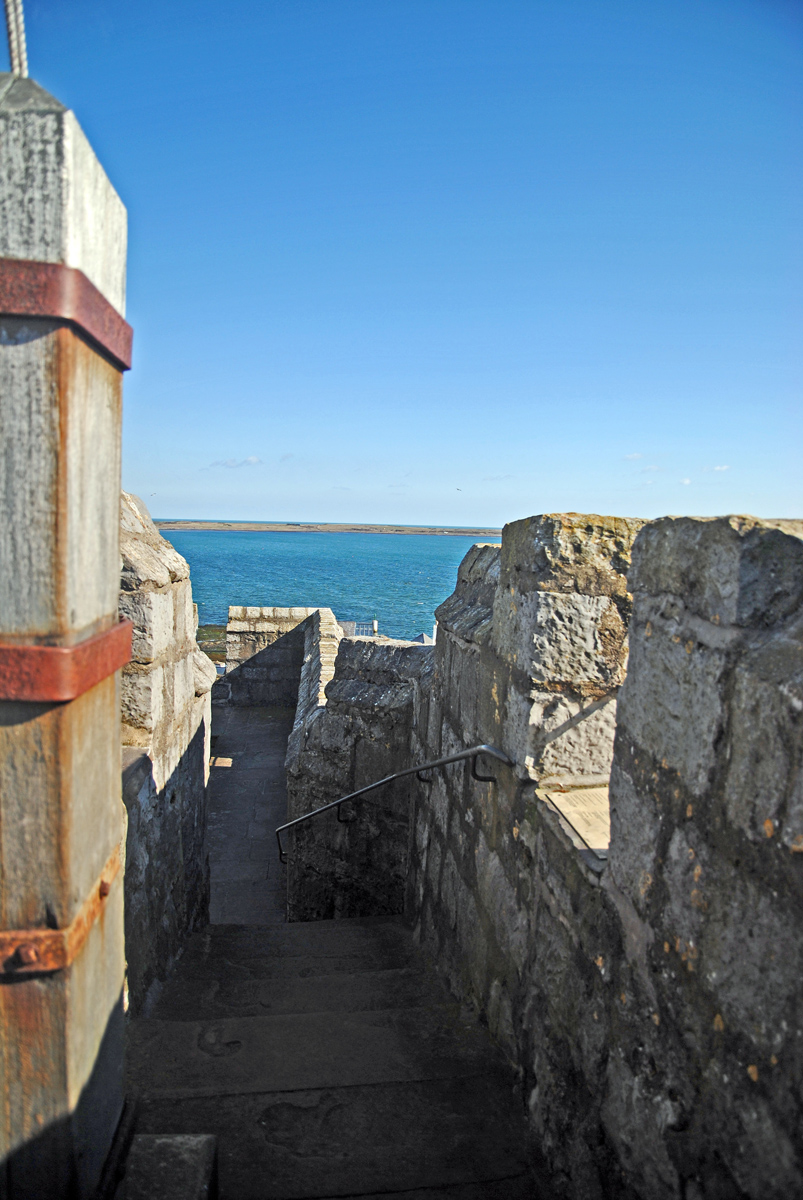 城堡上狭窄的通道