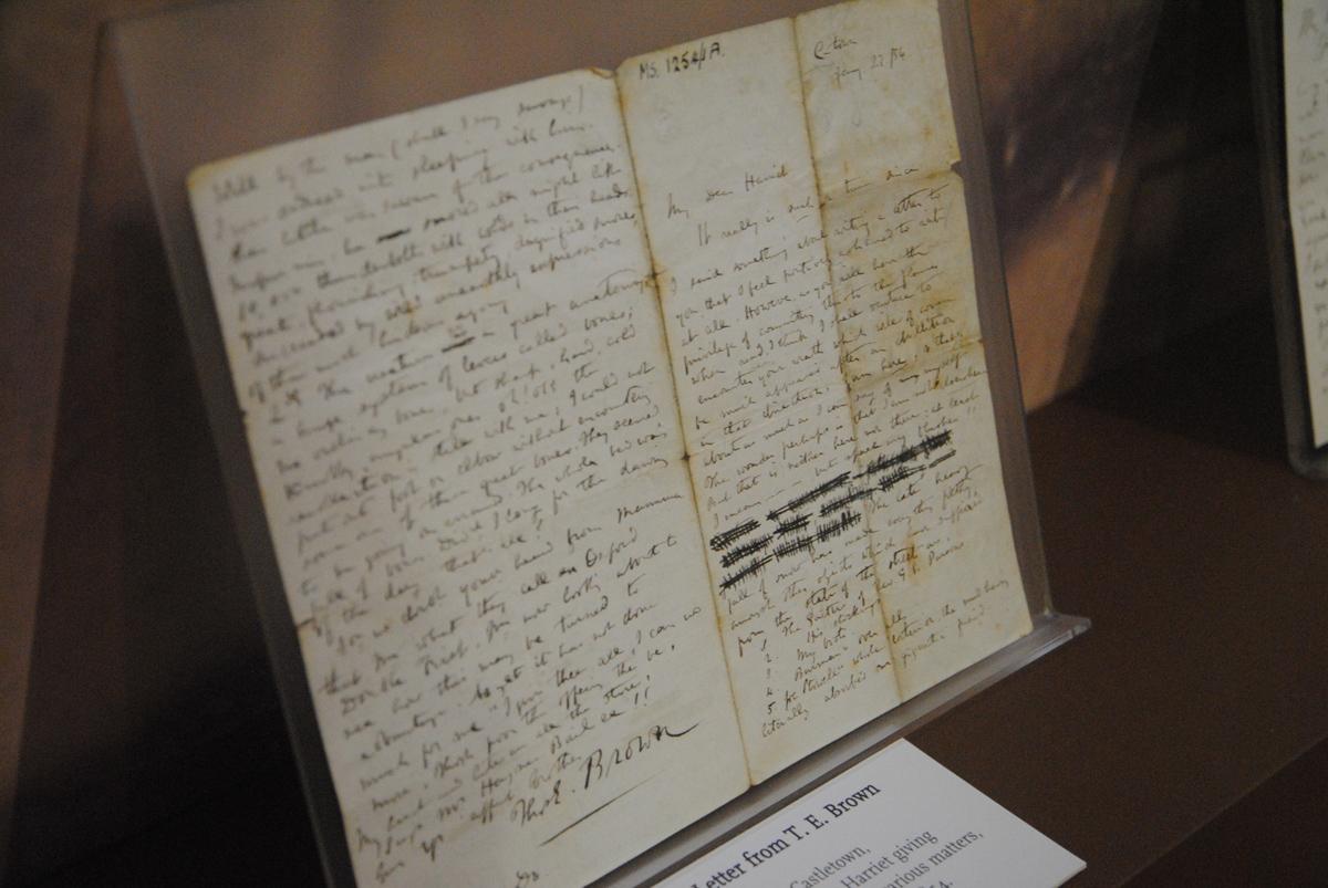 诗人T.E.Brown的手稿