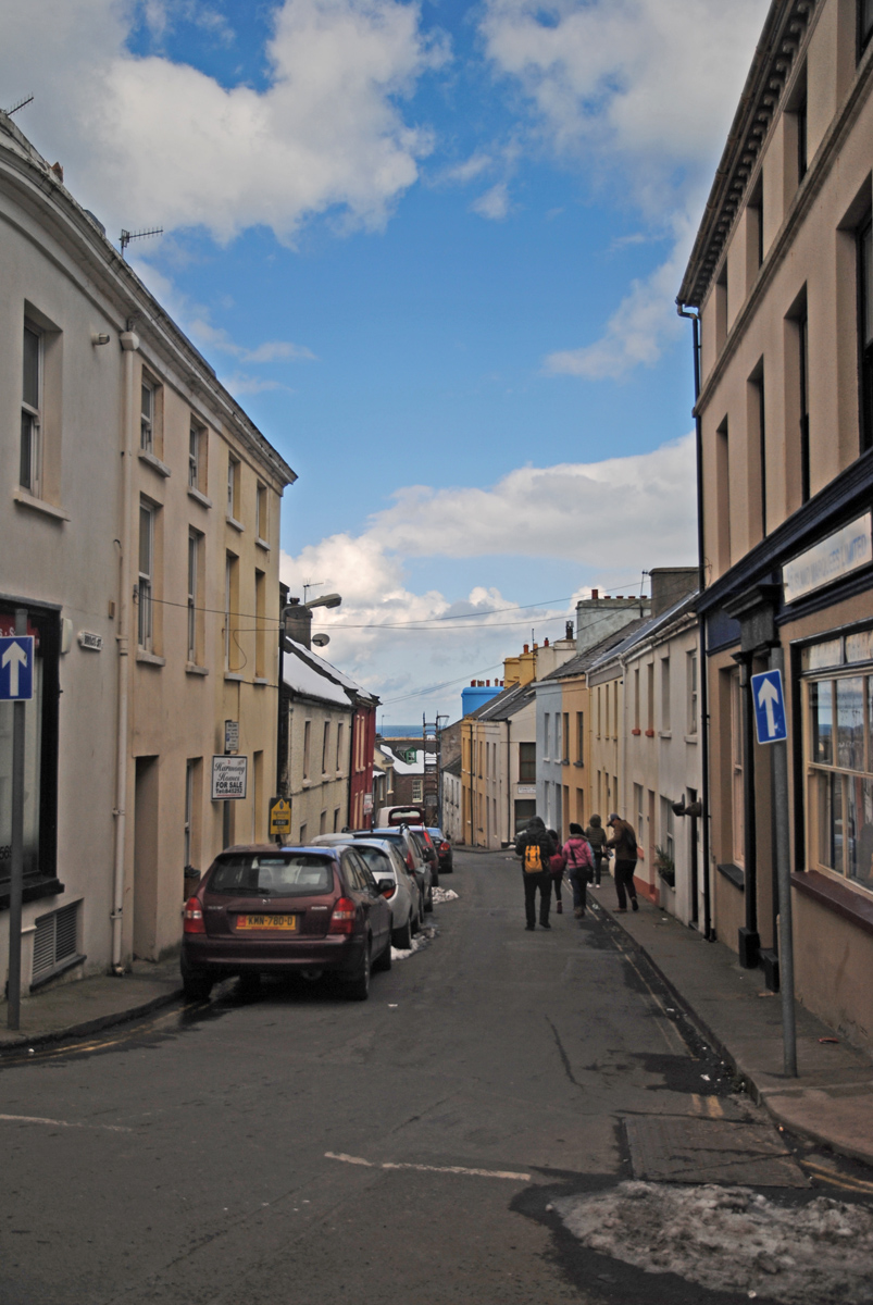Peel的街道。其实是一个非常小的海边小镇