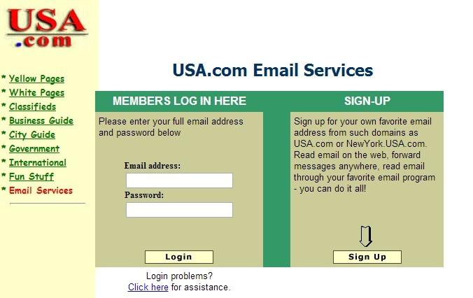 USA.com的邮箱界面,不过我记得绿色是收费版,免费版是灰色的